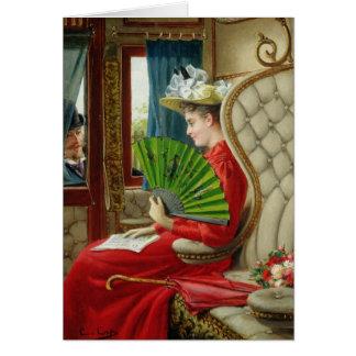 La indiscreción, 1895 tarjeta de felicitación