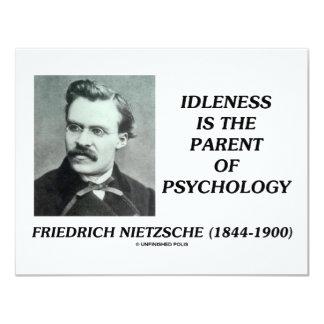 """La indolencia es el padre de la psicología invitación 4.25"""" x 5.5"""""""