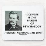 La indolencia es el padre de la psicología tapete de ratones