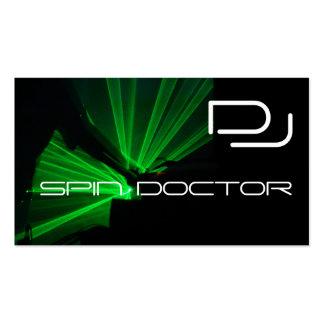 La industria musical de DJ carda verde negro Tarjetas De Visita