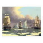 La industria pesquera septentrional de la ballena  tarjeta postal