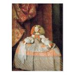 La infanta Maria Marguerita en rosa Postal