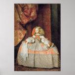 La infanta Maria Marguerita en rosa Póster