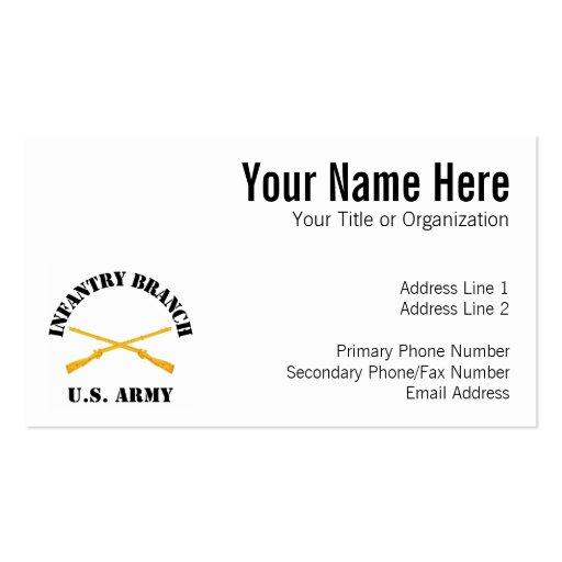 La infantería ramifica plantilla de tarjeta de negocio