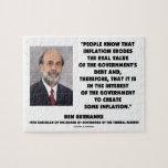 La inflación de Ben Bernanke erosiona la deuda rea Puzzles Con Fotos