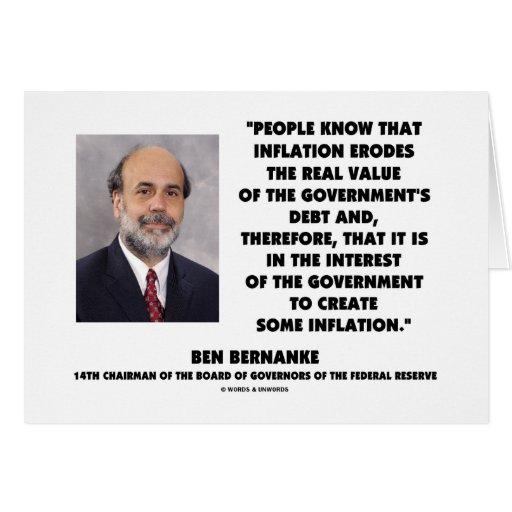 La inflación de Ben Bernanke erosiona la deuda rea Tarjetón