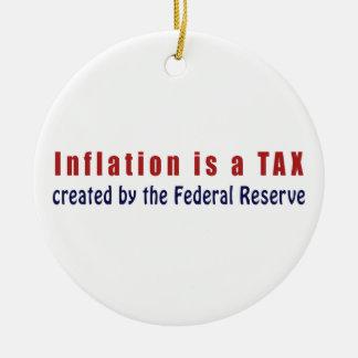 La inflación es un IMPUESTO creado por Federal Adorno Navideño Redondo De Cerámica