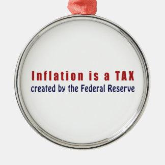 La inflación es un IMPUESTO creado por Federal Adorno Navideño Redondo De Metal