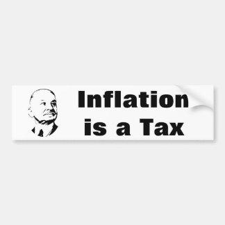 La inflación es un impuesto Ludwig von Mises Pegatina Para Auto
