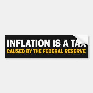¡La inflación es un impuesto! Pegatina para el par Pegatina De Parachoque