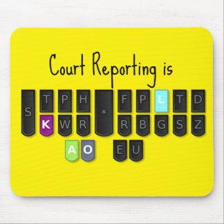 La información de la corte es cojín de ratón mouse pads