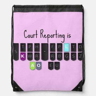 La información de la corte es mochila fresca del