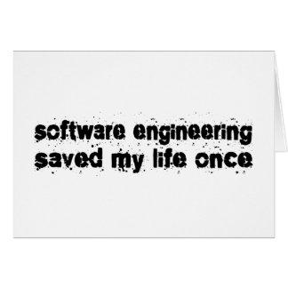 La ingeniería de programas informáticos ahorró mi  felicitacion