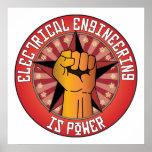 La ingeniería eléctrica es poder impresiones