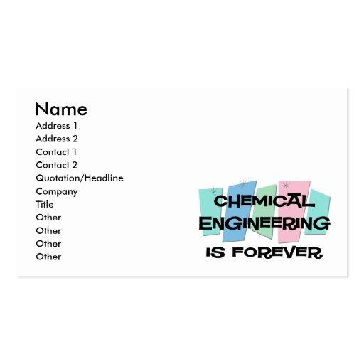 La ingeniería química es Forever Plantillas De Tarjetas De Visita