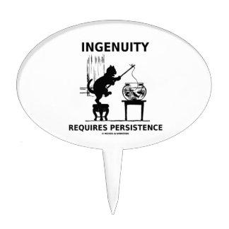 La ingeniosidad requiere la persistencia (la actit figura de tarta