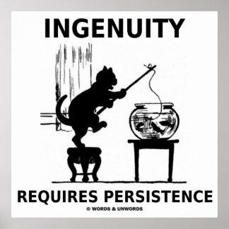 La ingeniosidad requiere la persistencia (la actit impresiones