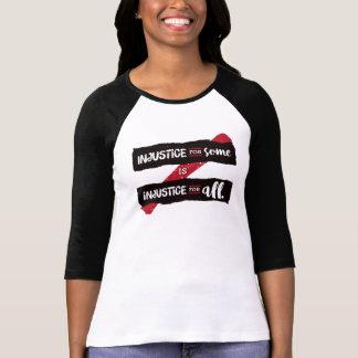 La injusticia cupo 3/4 camiseta de la manga