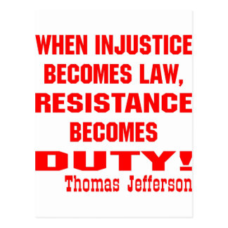 La injusticia se convierte en resistencia de la postal