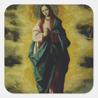 La Inmaculada Concepción, c.1630-35 Pegatina Cuadrada
