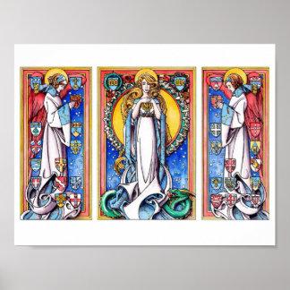 La Inmaculada Concepción con ángeles acompañantes Poster