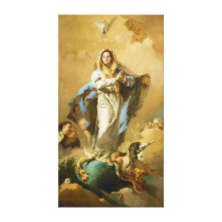 La Inmaculada Concepción de Juan B. Tiepolo Impresión En Lona Estirada