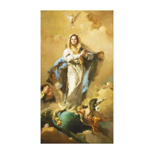 La Inmaculada Concepción de Juan B. Tiepolo Impresion En Lona