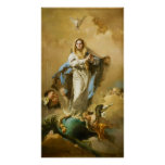 La Inmaculada Concepción de Juan B. Tiepolo Poster