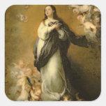 La Inmaculada Concepción Pegatina Cuadrada