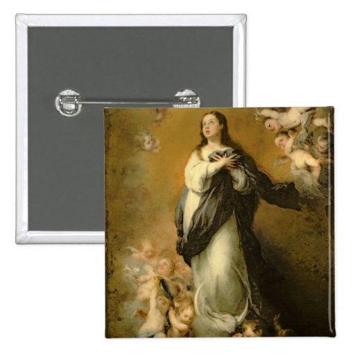 La Inmaculada Concepción Pin Cuadrado