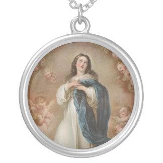 La Inmaculada Concepción por litográfico americano Colgante Redondo