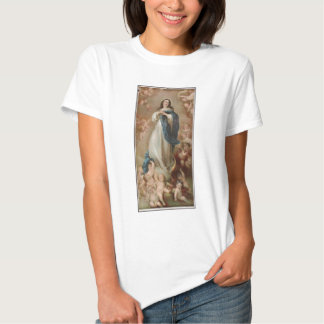 La Inmaculada Concepción por litográfico americano Playera