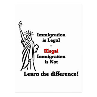 La inmigración es legal postal