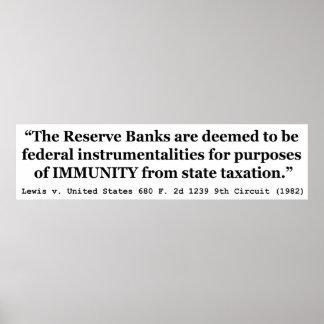 La inmunidad de Federal Reserve deposita a Lewis v Posters