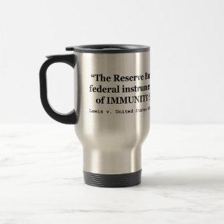 La inmunidad de Federal Reserve deposita a Lewis v Taza De Viaje