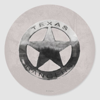 La insignia del guardabosques solitario pegatina redonda