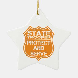 La insignia del soldado de caballería estatal prot ornamento de navidad