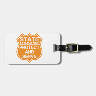 La insignia del soldado de caballería estatal prot etiquetas de equipaje