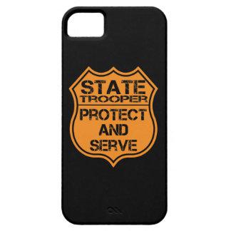 La insignia del soldado de caballería estatal prot iPhone 5 carcasas