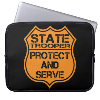 La insignia del soldado de caballería estatal prot fundas ordendadores