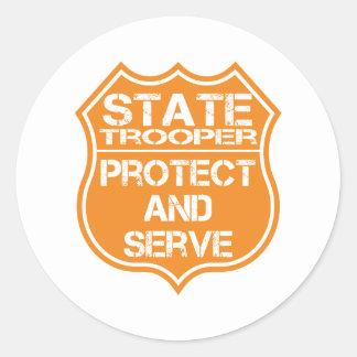 La insignia del soldado de caballería estatal prot etiquetas
