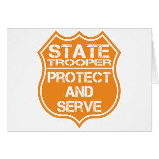 La insignia del soldado de caballería estatal prot tarjeta