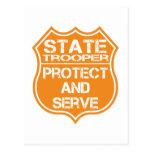 La insignia del soldado de caballería estatal prot postales