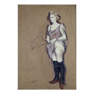 La inspección médica Prostituta rubia 1894 Posters