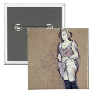 La inspección médica: Prostituta rubia, 1894 Pin Cuadrado