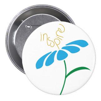 La inspiración crece el botón pin redondo de 3 pulgadas