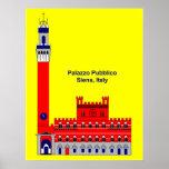 La inspiración de Palazzo Pubblico - Siena, Italia Impresiones
