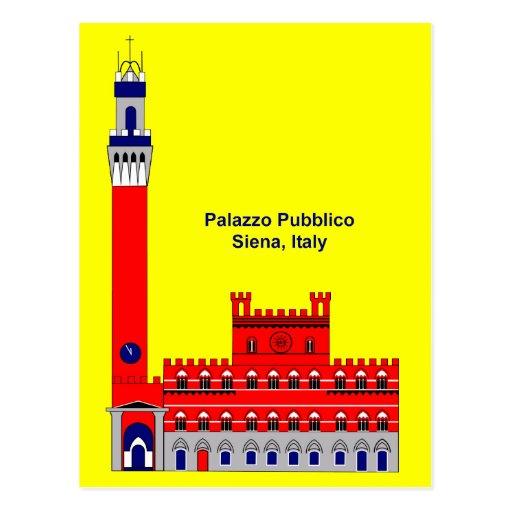 La inspiración de Palazzo Pubblico - Siena, Italia Tarjeta Postal