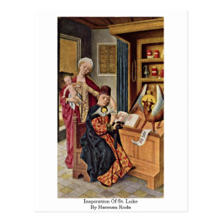 La inspiración de St Luke por Hermen montó Postales