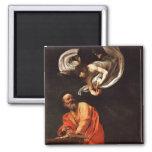 La inspiración de St Matthew, Caravaggio Imán Cuadrado